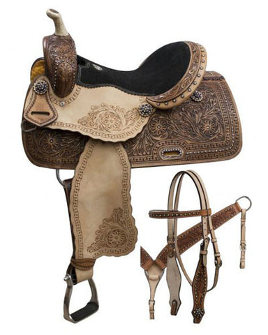 Double T Barrel Saddle Set - #7861set