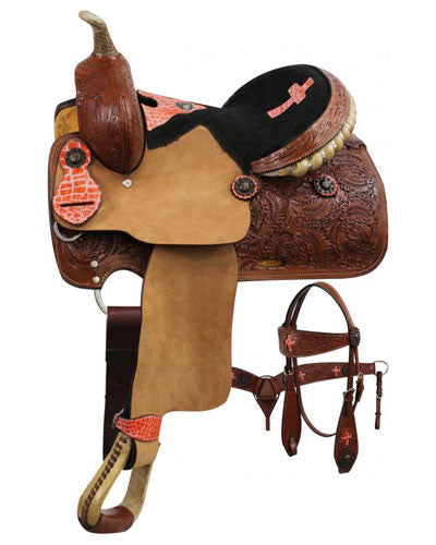 Double T Pony/Youth Saddle Set - #6010