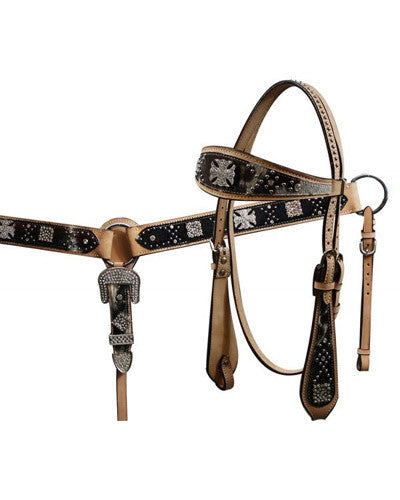 Showman Headstall and Breast Collar Set - #12671