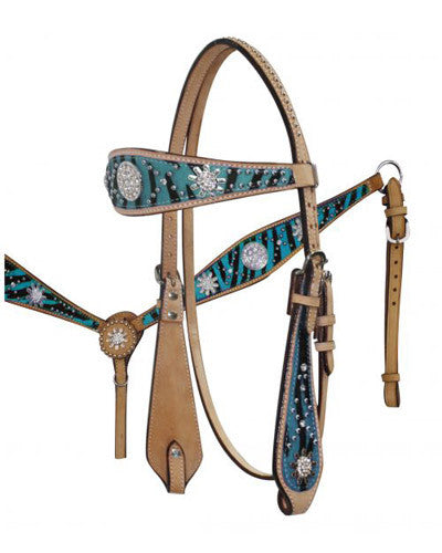 Showman Headstall and Breast Collar Set - #12685