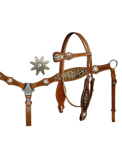 Showman Headstall and Breast Collar Set - #12704