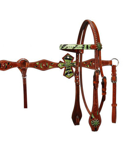 Showman Headstall and Breast Collar Set - #12719
