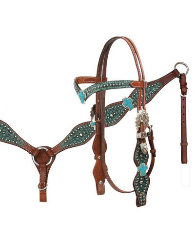 Showman Headstall and Breast Collar Set - #12757
