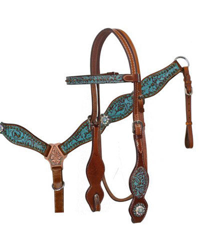 Showman Headstall and Breast Collar Set - #12761