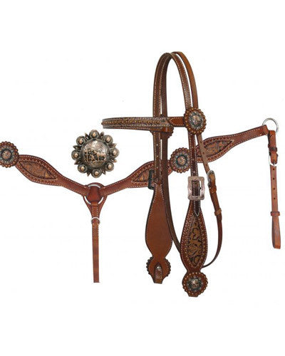 Showman Headstall and Breast Collar Set - #12762