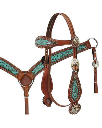 Showman Headstall and Breast Collar Set - #12790