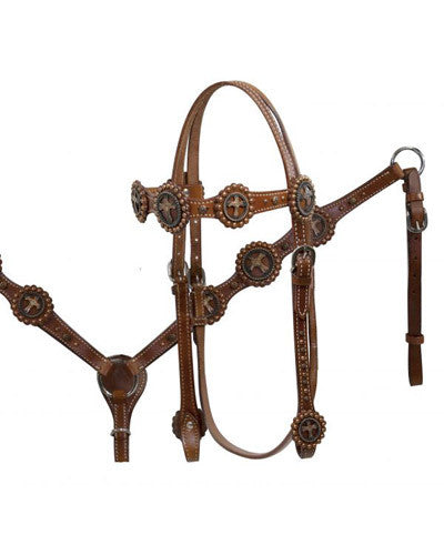 Showman Headstall and Breast Collar Set - #12796