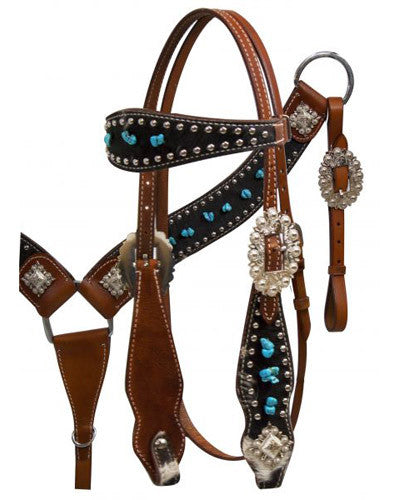 Showman Headstall and Breast Collar Set - #12809