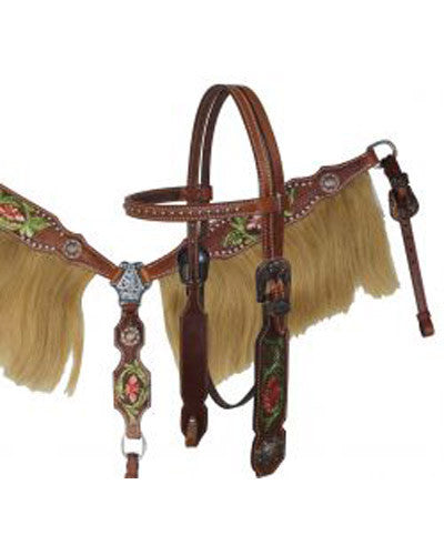 Showman Headstall and Breast Collar Set - #12871