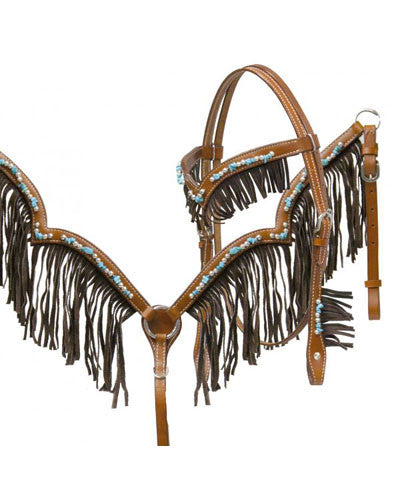 Showman Headstall and Breast Collar Set - #12918