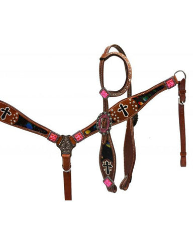 Showman Headstall and Breast Collar Set - #12958