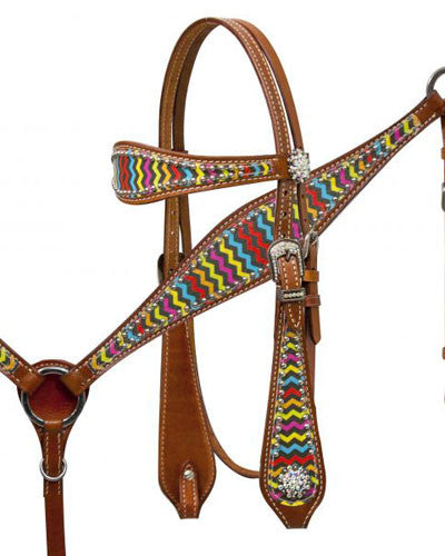 Showman Headstall and Breast Collar Set - #13003
