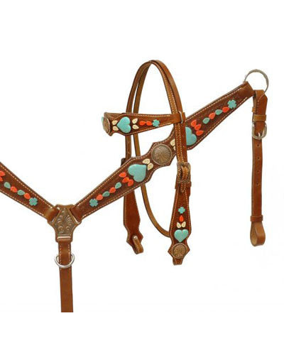 Showman Headstall and Breast Collar Set - #13140