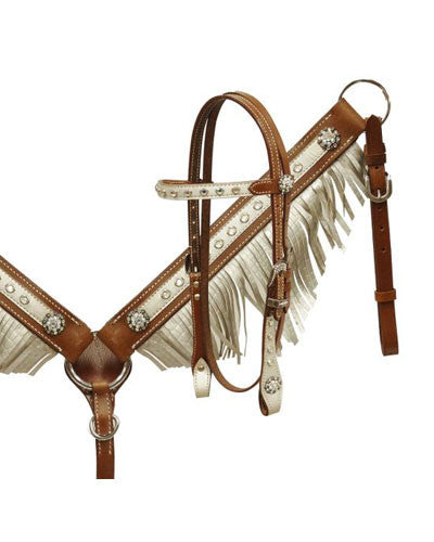 Showman Pony Headstall and Breast Collar Set - #13153