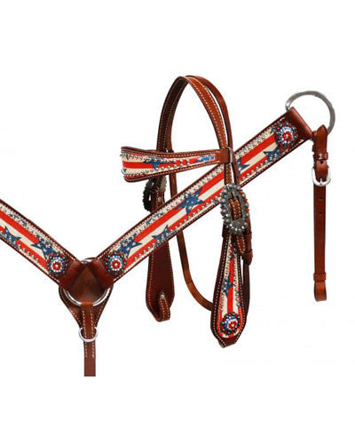 Showman Headstall and Breast Collar Set - #13154