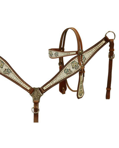 Showman Headstall and Breast Collar Set - #13156