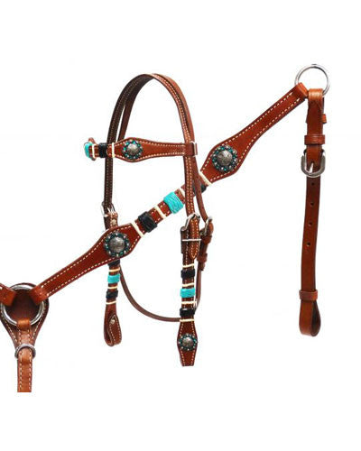 Showman Headstall and Breast Collar Set - #13158