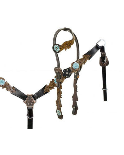 Showman Headstall and Breast Collar Set - #13502