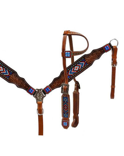 Showman Headstall and Breast Collar Set - #13532