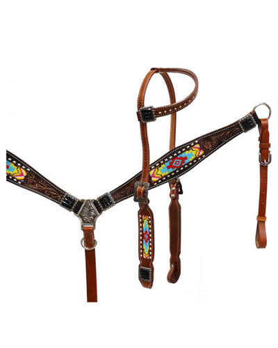 Showman Headstall and Breast Collar Set - #13533