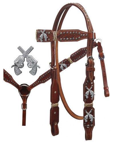 Showman Headstall and Breast Collar Set - #2003