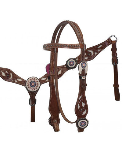 Showman Headstall and Breast Collar Set - #5016
