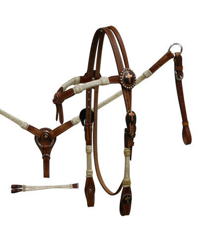 Showman Headstall and Breast Collar Set - #531