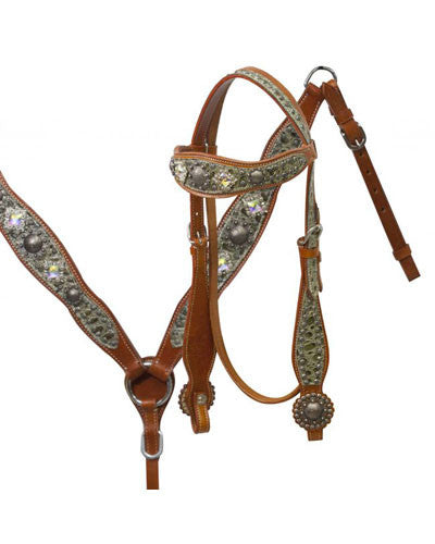 Showman Headstall and Breast Collar Set - #6055