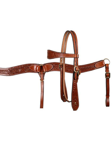 Showman Headstall and Breast Collar Set - #607