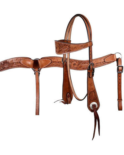 Showman Headstall and Breast Collar Set - #609