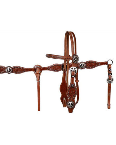 Showman Headstall and Breast Collar Set - #613