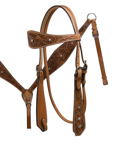 Showman Headstall and Breast Collar Set - #6480