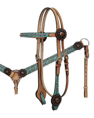Showman Headstall and Breast Collar Set - #6576