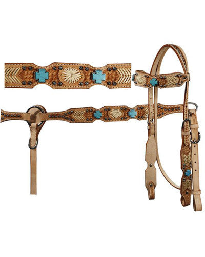 Showman Headstall and Breast Collar Set - #7116