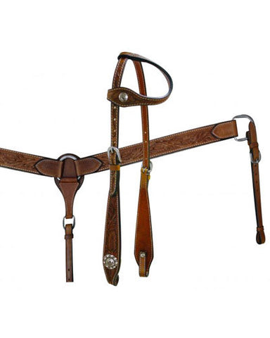 Showman Headstall and Breast Collar Set - #7148