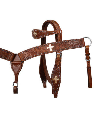 Showman Headstall and Breast Collar Set - #7168