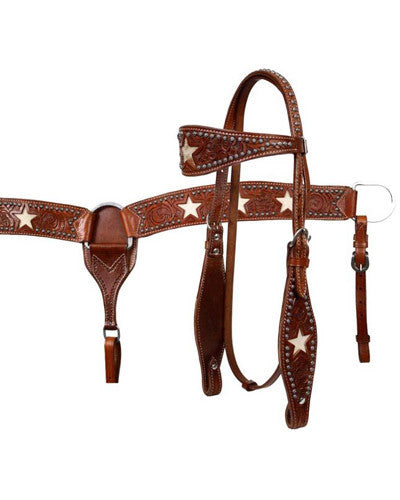 Showman Headstall and Breast Collar Set - #7175