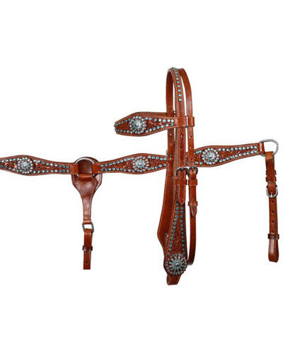 Showman Headstall and Breast Collar Set - #7181