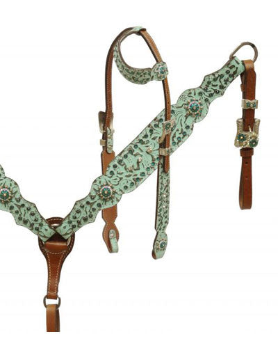 Showman Headstall and Breast Collar Set - #7359
