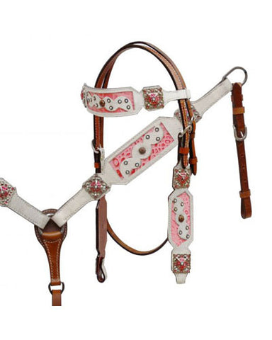 Showman Headstall and Breast Collar Set - #7360