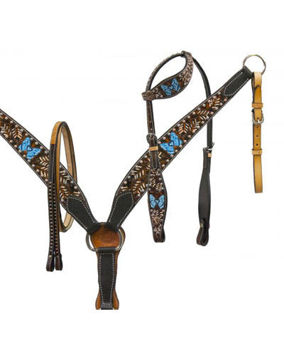 Showman Headstall and Breast Collar Set - #7715