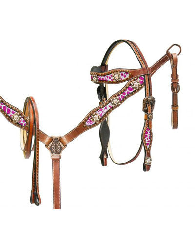 Showman Headstall and Breast Collar Set - #7724