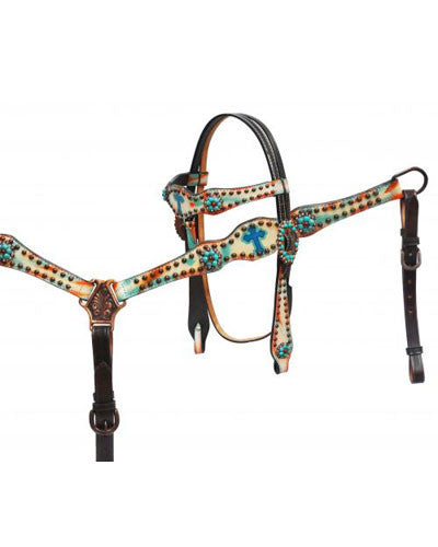 Showman Headstall and Breast Collar Set - #85023