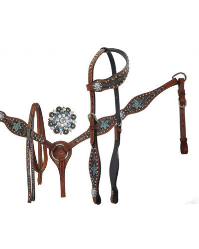 Showman Headstall and Breast Collar Set - #9556