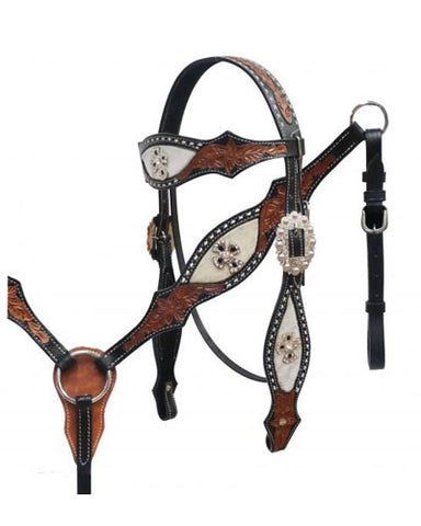 Showman Headstall and Breast Collar Set - #3940