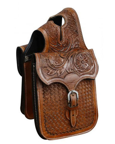 Showman Tooled Horn Bag - #HB-01