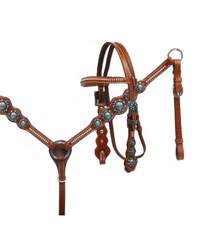 Showman Pony Headstall and Breast Collar Set - #13057