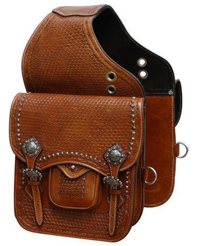 Showman Tooled Saddle Bag - #SB-54