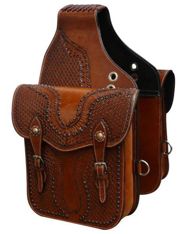 Showman Tooled Saddle Bag - #SB-55