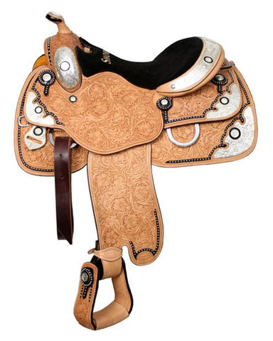 Showman Show Saddle With Matching Headstall - #638416h